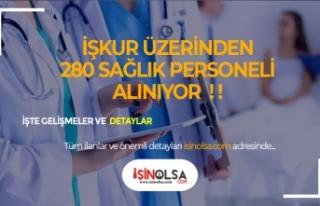 İŞKUR Üzerinden Hastanelere 280 Sağlık Personeli...