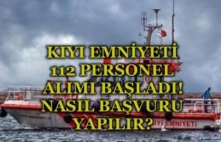 İŞKUR Üzerinden Kıyı Emniyeti 112 Kamu Personeli...
