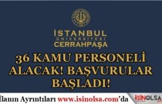 İstanbul Üniversitesi Mayıs Ayı 36 Sınavsız...