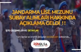 Jandarma Lise Mezunu Subay Astsubay Alımı Hakkında...