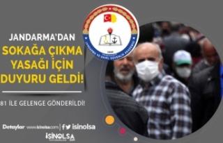 Jandarma'dan 65 Yaş Üzeri ve 20 yaş Altı...