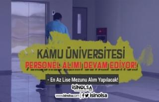 Kamu Üniversitesi İŞKUR Üzerinden Personel Alımına...