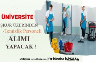 Kırklareli Üniversitesi Kura ile 14 Temizlik Görevlisi...