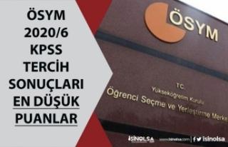 ÖSYM KPSS 2020/6 Tercih Sonuçları Sorgulama Ekranı!...