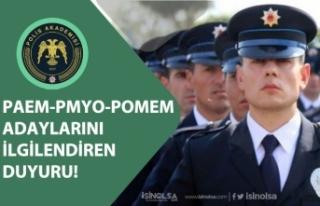 Polis Akademisinden Polis Alımı POMEM, PAEM, PMYO...