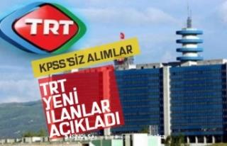 TRT Çok sayıda KPSS'siz Personel Alım İlanı...