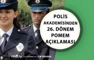 Polis Akademisi Polis Alımından, 26. Dönem POMEM...