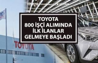 Toyota 800 Personel Alımı Yapacak! İlk İlanlar...