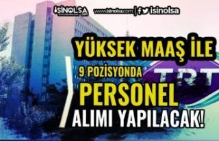 TRT Yeni Personel Alım İlanı Yayımlandı! Yüksek...