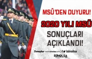 MSB 2020 Yılı MSÜ Askeri Öğrenci Alımı Sonuçlarını...