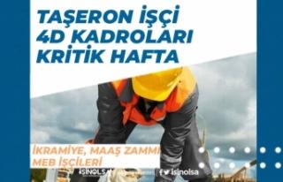 Taşeron İşçi, 4D Kadroları TİS İçin Kritik...