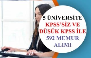 5 Üniversite 591 Memur Alımı Yapacak! Lise, Önlisans,...