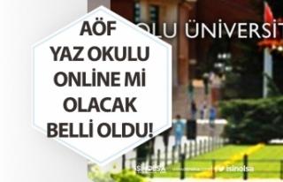 Açıköğretim AÖF Yaz Okulu Sınavı Online mi...