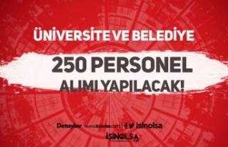Belediye ve Üniversiteye 255 Personel Alımında...