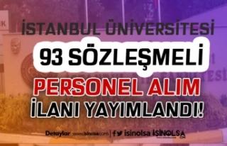 İstanbul Üniversitesi 93 Sözleşmeli Personel Alım...