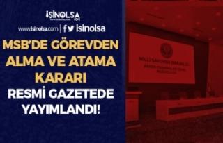 MSB Askeri Fabrikalar Genel Müdürü Görevden Alındı...