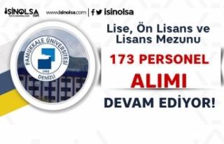Pamukkale Üniversitesi 173 Sözleşmeli Personel...
