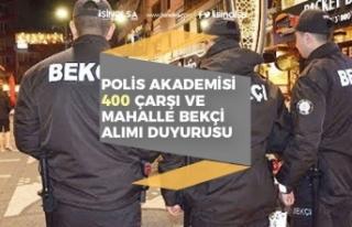 Polis Akademisi 2020/1 ile 400 Çarşı ve Mahalle...