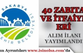 Sakarya Büyükşehir Belediyesi 40 Zabıta Memuru...