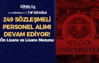 Selçuk Üniversitesi 249 Sözleşmeli Personel Alımı...