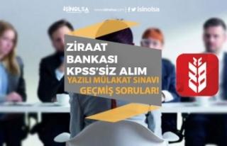 Ziraat Bankası KPSS'siz Bankacı Alımı Yapıyor!...