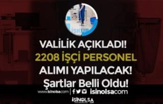 34 Proje Kapsamında İŞKUR İle 2208 İşçi Personel...