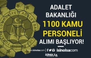 Adalet Bakanlığı 1100 Kamu Personeli Alımı Başvurusu...