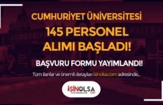Cumhuriyet Üniversitesi 145 Hemşire, Sağlık Teknikeri...