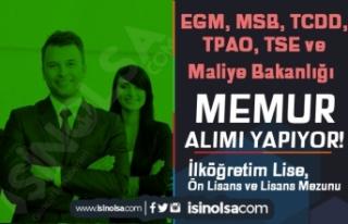 EGM, MSB, TCDD, TPAO, TSE ve Maliye Bakanlığı Kamuya...