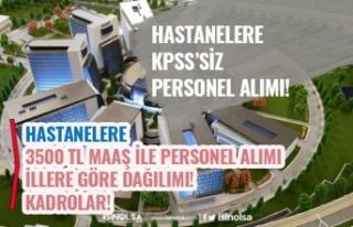 Hastanelere KPSS'siz 3.500 TL Maaş İle Personel...