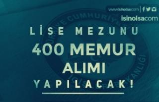 İçişleri Bakanlığı Lise Mezunu 400 Memur Alımı...