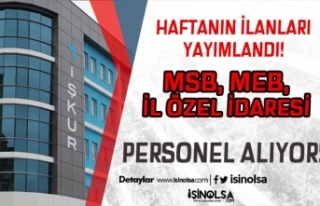 İl Özel İdaresi, MSB, MEB ve Üniversiteye KPSS...
