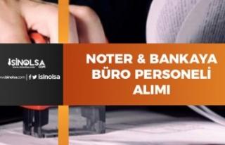 İŞKUR'dan Noter ve Bankaya Personel Alımı...