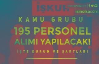 İŞKUR Kamu Grubu 11 Kuruma 195 Personel Alımı...