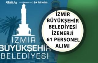 İzmir Büyükşehir Belediyesi İlkokul Mezunu İzenerji...