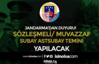 Jandarma Sözleşmeli / Muvazzaf Subay Astsubay Temini...