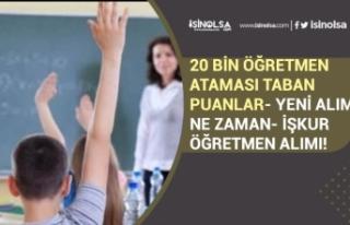 MEB 20 Bin Öğretmen Alımı Taban Puanları! Yeni...