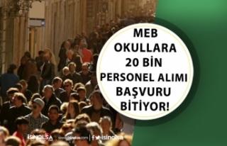 MEB İŞKUR Okullara 20 Bin Personel Alımı Başvurusu...