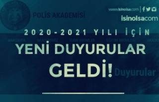 Polis Akademisinden 2020/2021 Yılı Güz Dönemi...