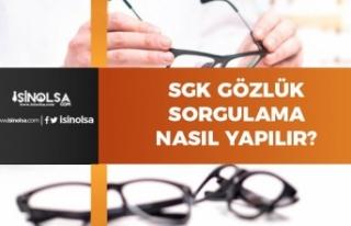 SGK Gözlük Hakkı Sorgulama Nasıl Yapılır?
