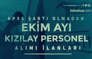Türk Kızılayı Ekim Ayı Personel Alımı İlanı...