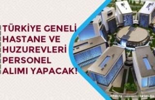 Türkiye Geneli Hastanelere ve Huzurevlerine Personel...