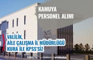Valiliğe, İl Sosyal Hizmetler Müdürlüğü 75...