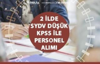 2 İlde SYDV, Büro Memuru, Sosyal İnceleme Görevlisi...