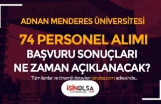 Adnan Menderes Üniversitesi 74 Sağlık Personeli...