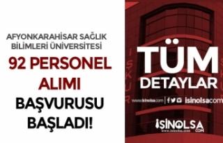 AFYU İŞKUR Üzerinden 92 Hasta Bakım Elemanı ve...