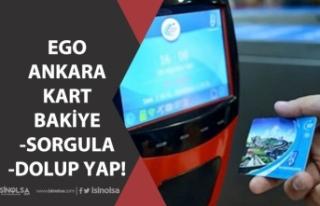 Ankara Kart Bakiyesi Sorgulama ve Ego Online Kart...