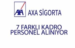 Axa Sigorta 7 Kadro İçin Personel Alımı Yapıyor!