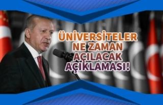 Başkan Erdoğan Üniversiteler Yüz Yüze Ne Zaman...