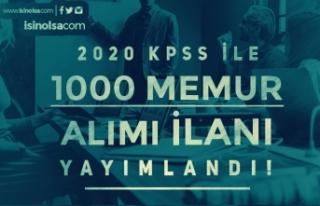 Başkanlığa Türkiye Geneli 1000 Memur Alımı İlanı...